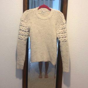 Sweater! Cream.